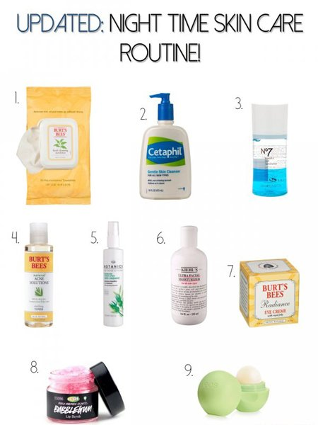 Skin care routine at night