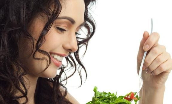 Beauty with Healthy food