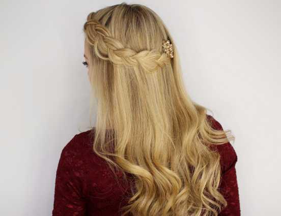 French Braid 2016 with Curls