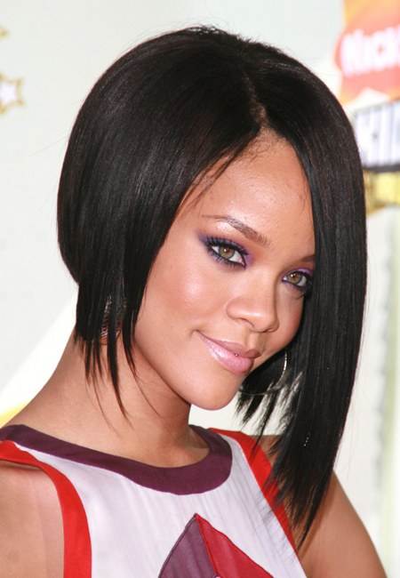 Rihanna's a line bob haircuts