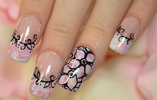 Floral Nail designs ideas for women