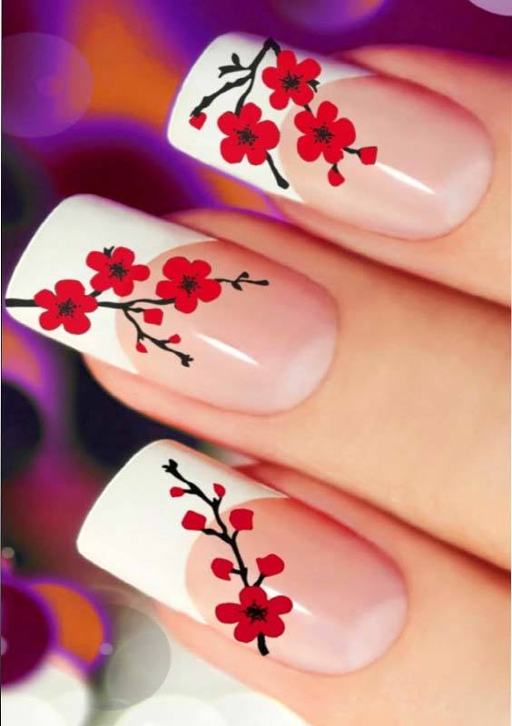 Flower Nail Arts Images and Designs