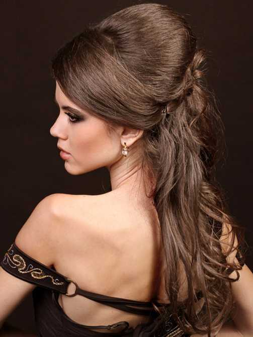 Half updo Prom with Straight Hair 2016
