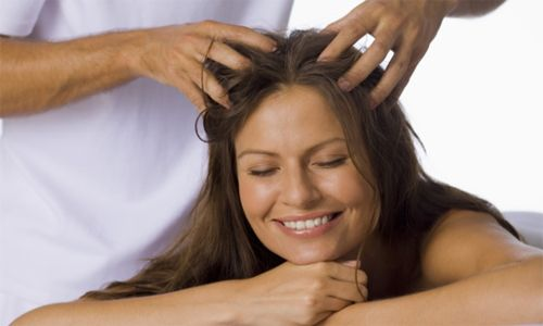 Hot Jojoba oil massage