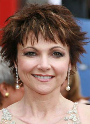 Short hairstyles for women over 50.