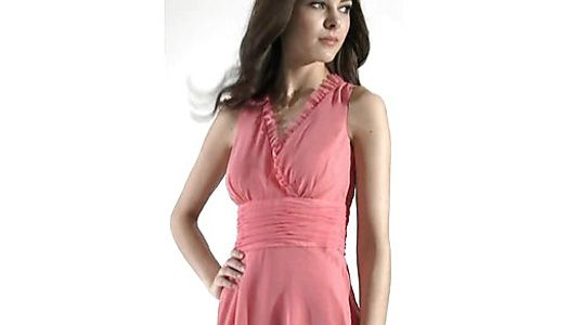 Wrap Fronts and Frilly bridesmaid dress