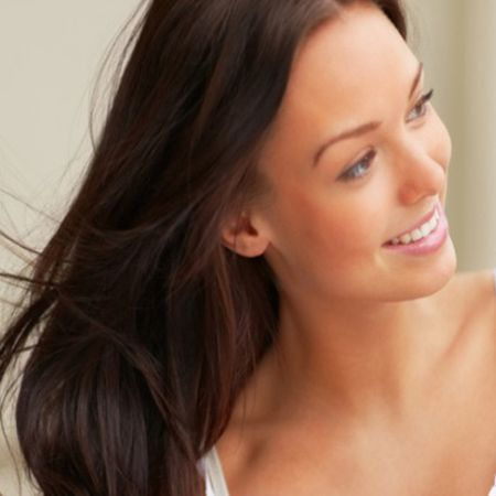massaging the scalp and hair roots