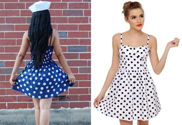 pin up dress Polka Dots