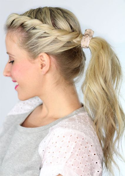 school girl twist Ponytail hairstyles