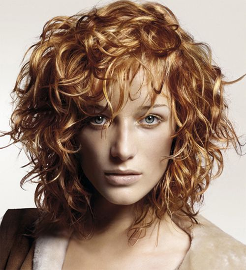 Short Wet Scrunched Curly Hairstyles