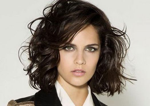 Wispy and relaxed natural black haircuts