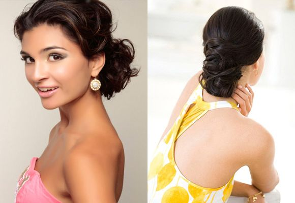 updo chignon hairstyles for long hair