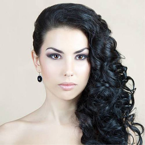 Black Curly and long Hairstyles
