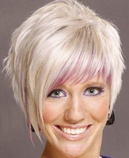 Older women Two toned Pixie Hairstyle