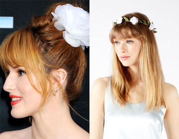 Floral hair accessories for special occasions hair