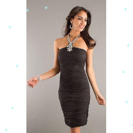 Black and edgy knee length dress