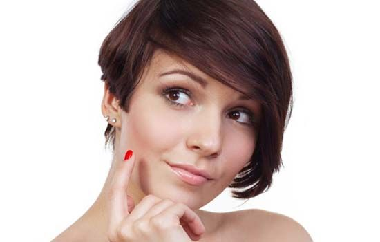 Short and edgy side swept bangs