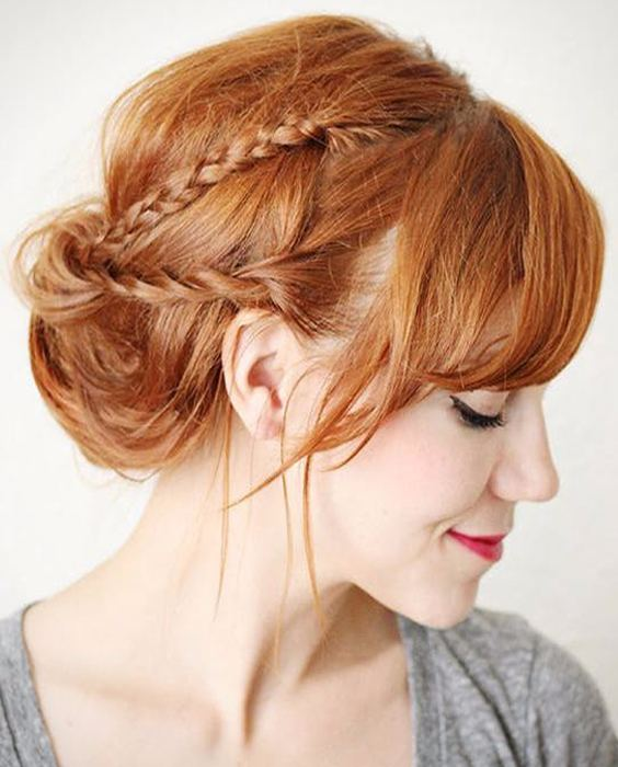 Easy braided twisted updo hairstyles 2018