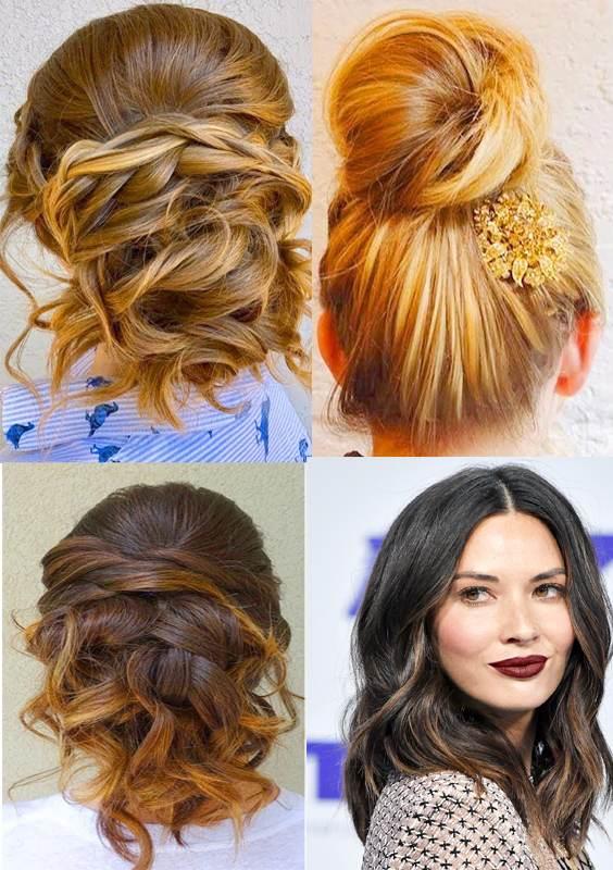 Best Fall-Autumm Hair Colors and Bun Haircuts 2017