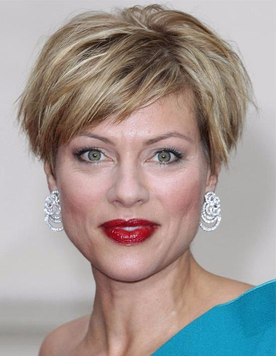 Short Bob with Side Bangs for Women over 50
