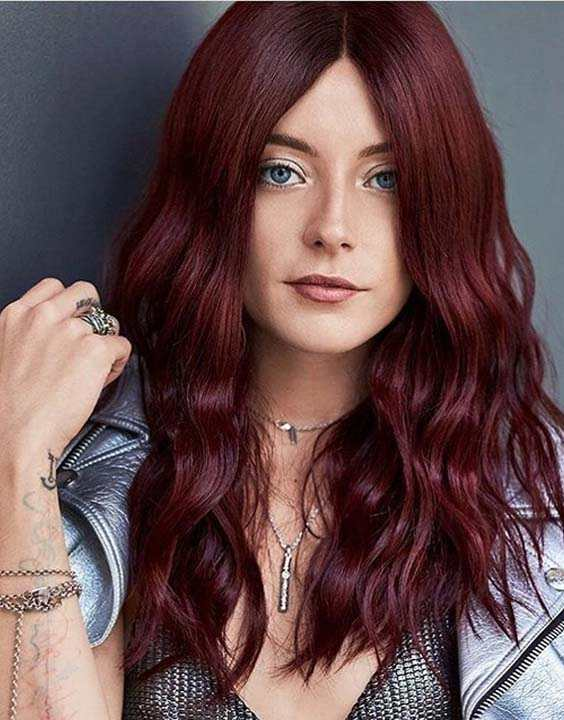 Mulled Wine Highlights for Long Hair 2018