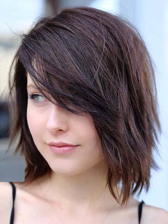 Fresh Bob Hairstyles with Side Swept Bangs in 2018