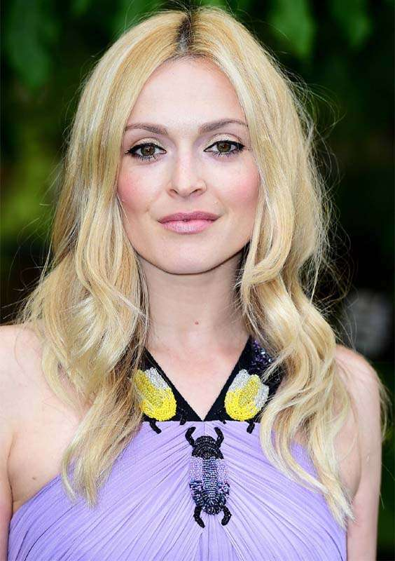 Center Parted Long Blonde Layered Hairstyles for Women