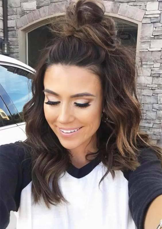 College Girls Updo Hairstyles for 2018