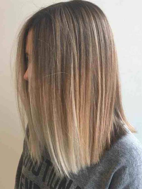 Long Straight Ombre Summer Haircuts 2018