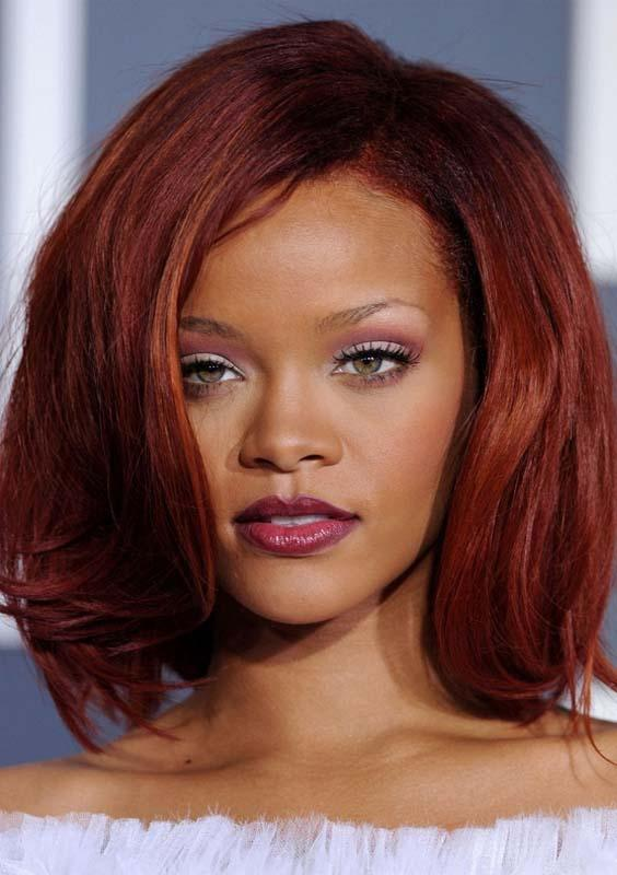 Rihanna's Shoulder Length Hairstyles 2018