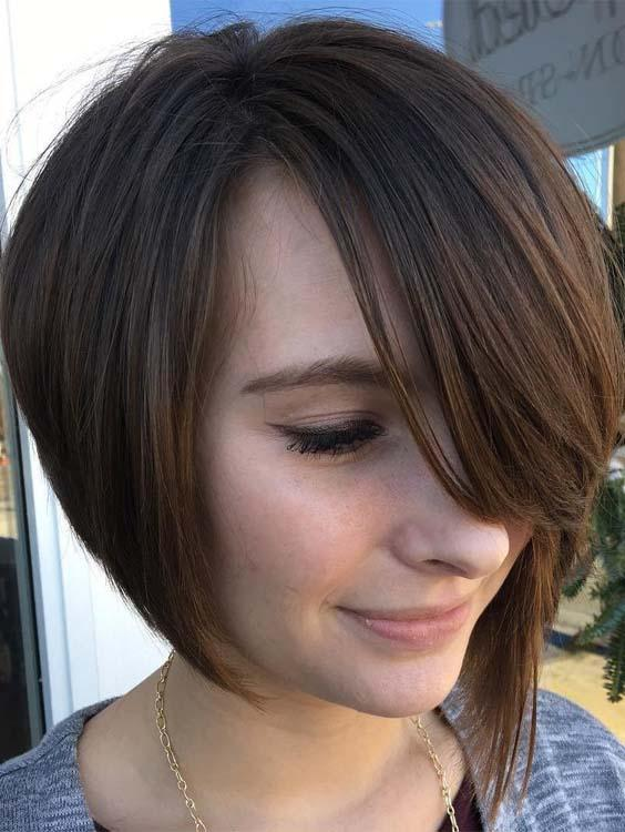 Short Bob Haircuts with Side Bangs for 2018