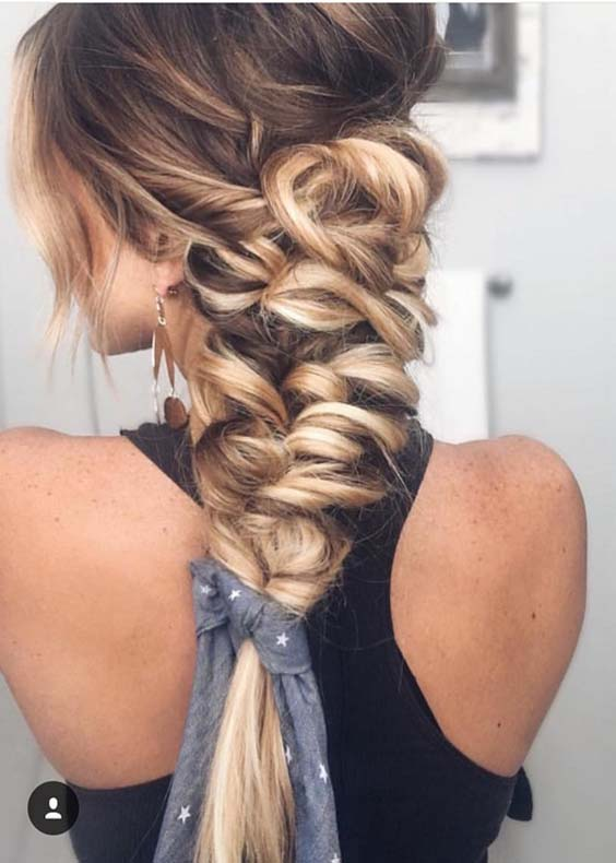 Beautiful Braided Ponytail Styles for 2018
