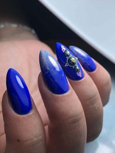 Blue Nail Art Designs for Women 2018