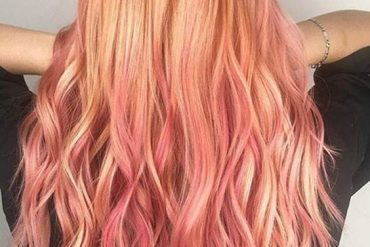 Pink Blonde Balayage Hair Color Ideas for Long Hair