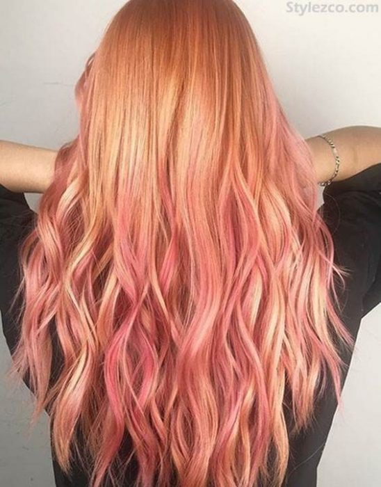 Coolest Pink Blonde Balayage Hair Color Ideas For Long Hair