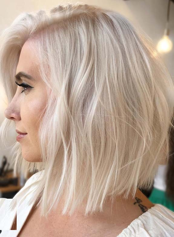 Platinum Blonde Bob Haircuts for 2018
