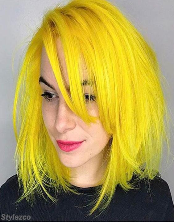 Unbelievable Style of Yellow Hair Color Highlight for 2018