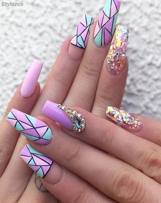 Cool & Trendy Purple Nail Art Design You're Not Seen Before