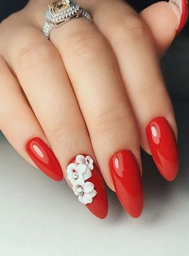 Cutest Long Red Nail Art Designs for 2018