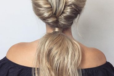 Awesome Double French Twist Ponytail Hairstyles for 2018