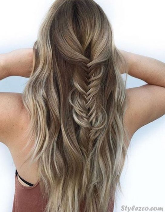 Elegant Looks of 2018 Fishtail Braids Hairstyles for Blonde Girls