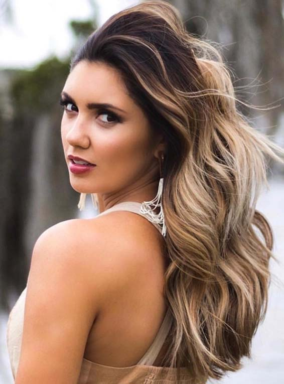 Long Layered Thick Haircut Styles in 2018