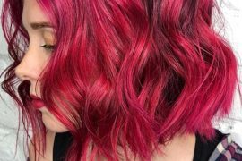 Pink Wavy Bob Haircuts for Women 2018