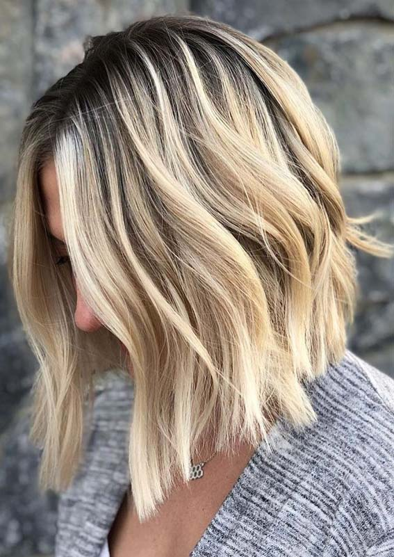Modern Looking Rooted Blonde Balayage Haircuts For 2018