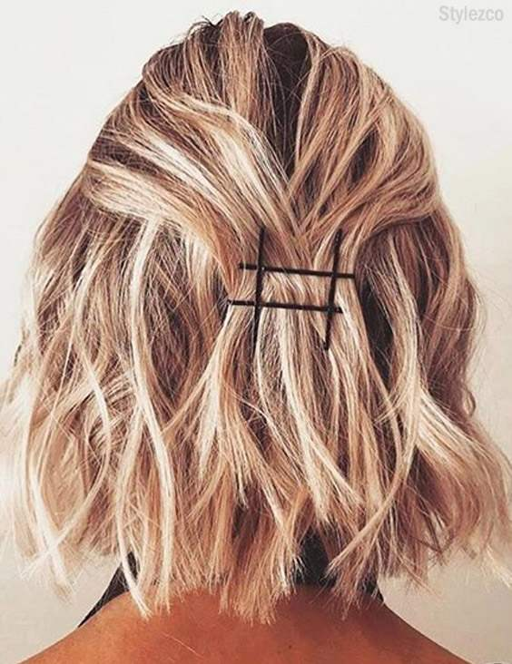 Prettiest Bobby Pins Hairstyles for Short Hair In 2018