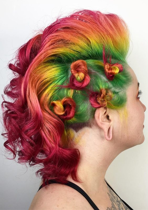Colorful Hair Looks & Hairstyles Ideas for Next Weekend ...