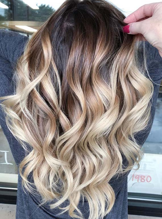 Best Dark Melted Chocolate Balayage Hair Color Highlights In