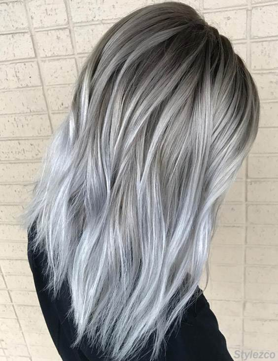 Perfect Combination of Grey & Silver Hair Colors for 2018