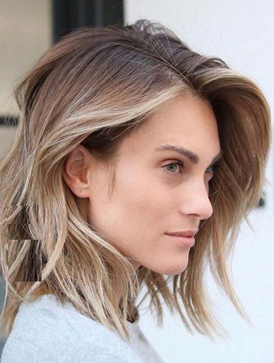 Tousled Medium Hairstyles for Women 2018