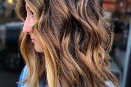 Copper Balayage Hairstyle & Hair Color Highlight for 2019